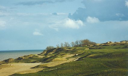 Whistling Straits under construction - one of Dyes most imaginative designs.