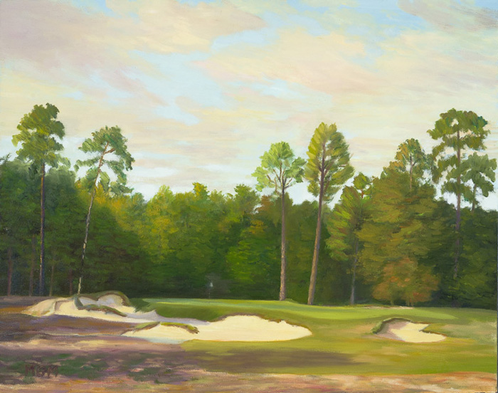 """The Secluded Ninth at Pinehurst #2″"