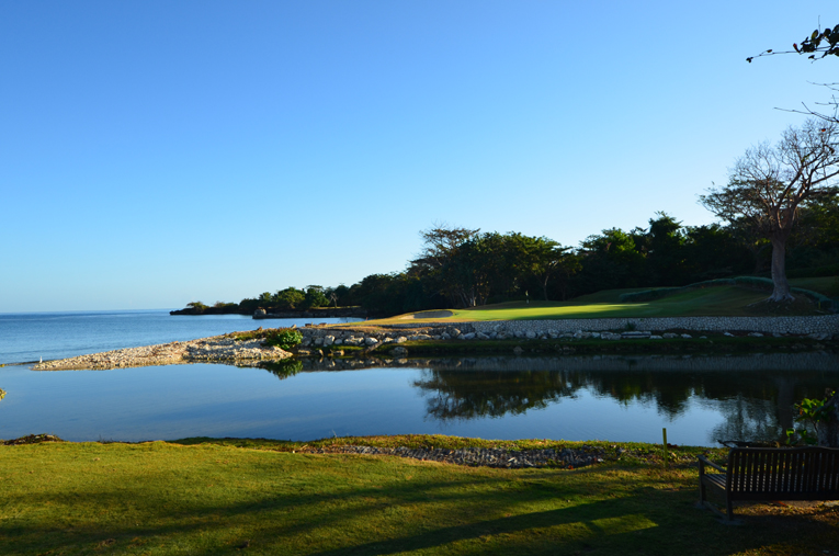 The fourth green complex is located across from the point where the Flint River feeds into the Caribbean Sea.