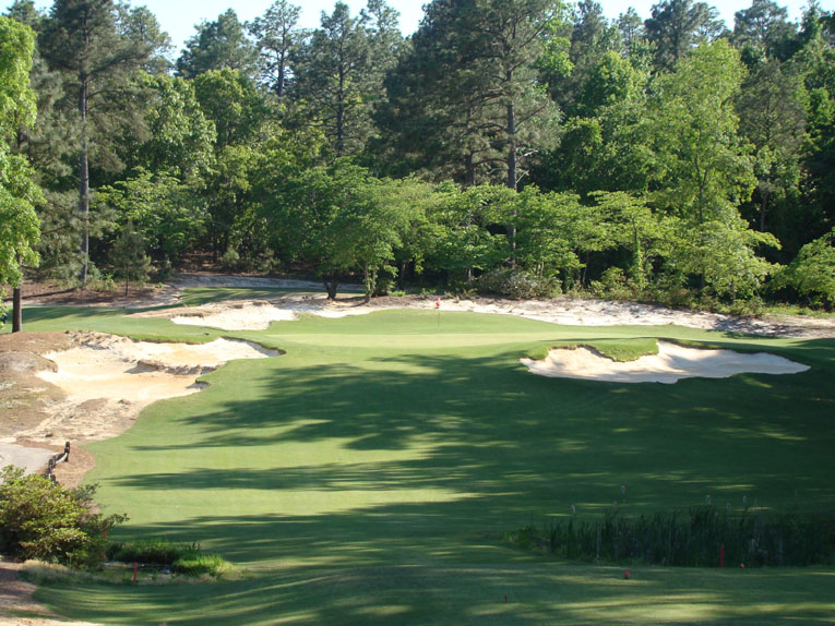 The Golden Age architects were adept at cutting bunkers into natural landforms. Franz has recaptured the magic from Ross's day.