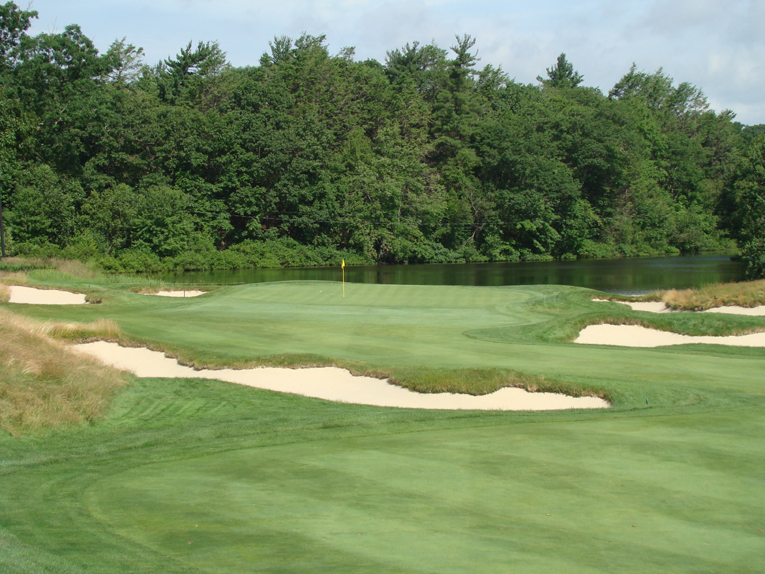 The third green is tucked in its own secluded pocket on the property.
