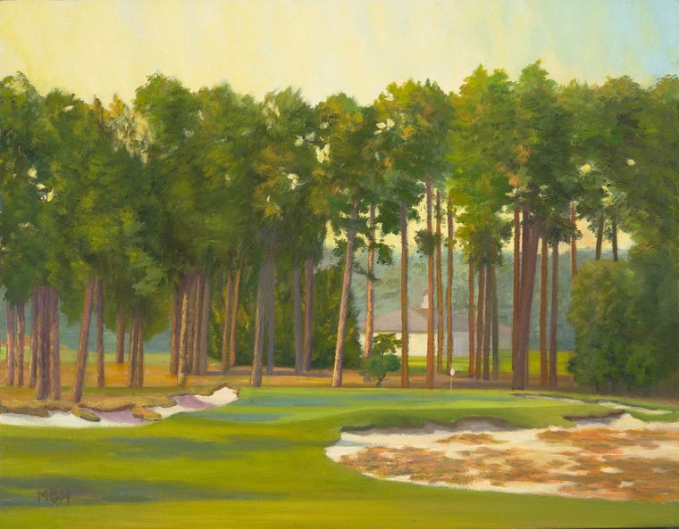"""Afternoon Sunlight, the 17th at Pinehurst #2"""