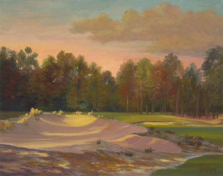 """A Waning Light Crossing the Second Fairway, Pinehurst #2"""
