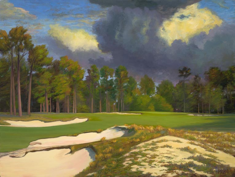 """Ominous, the 10th at Pinehurst #2"""