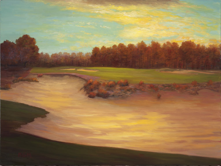 """After Dawn, the Fourteenth at Pinehurst #2"""