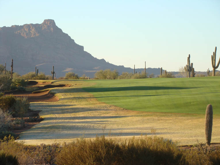 Note how the fairway is at grade to its surrounds.