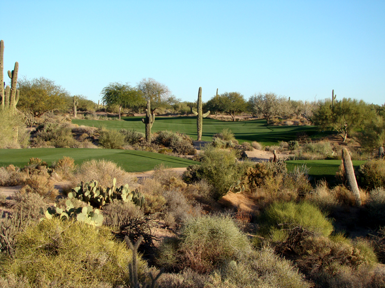 A perfectly conceived dogleg: Hug the inside of this dogleg left off the tee …