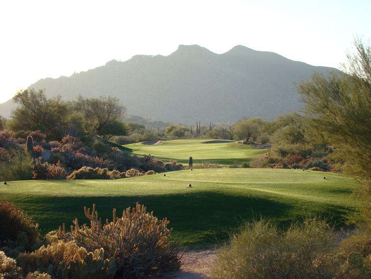 The charms of playing golf at Desert Forest under the clear blue skies against the backdrop of Black Mountain are as enchanting today as over four decades ago when Red Lawrence built here the world's first desert course.