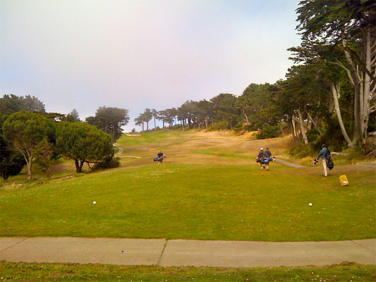 The tee shot on the 5th hole is appealingly open.