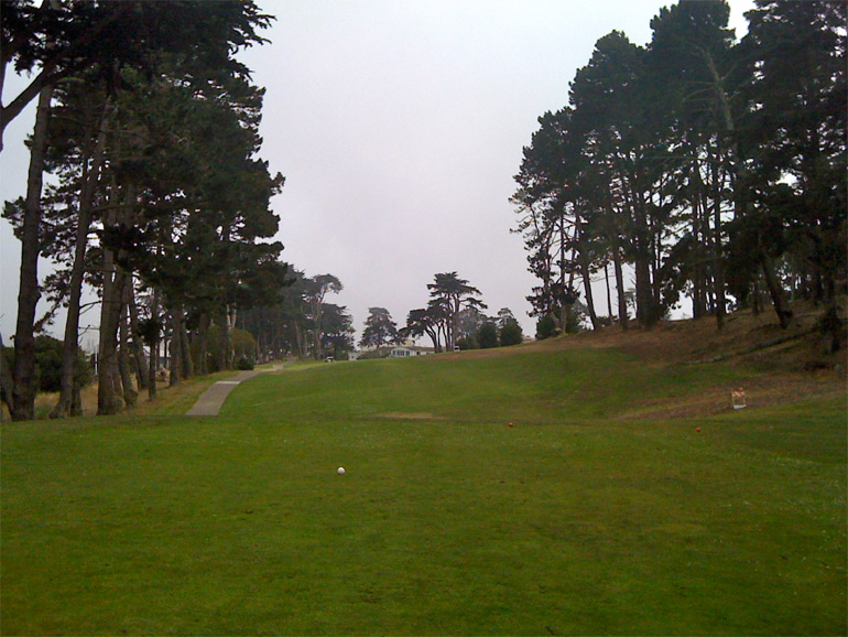 The attractive and demanding 18th tee shot.