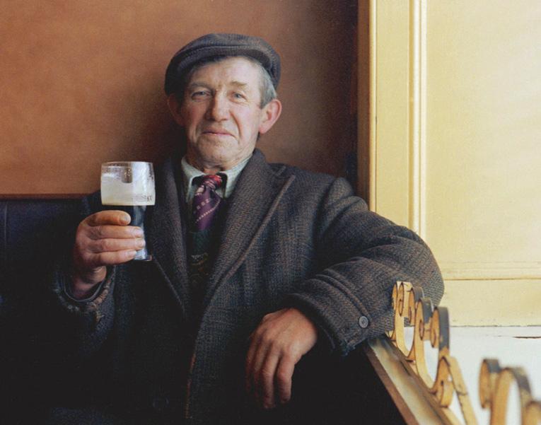 A proud Irishman enjoying some nectar from the Gods!