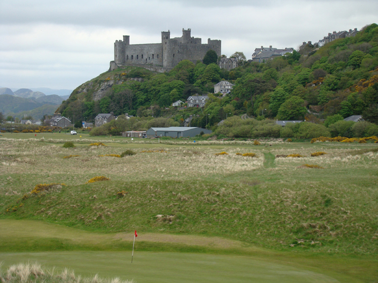 As seen from the course, the medieval fort's presence is felt on the golf and reminds one of battles from centuries long past.