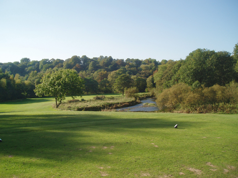 A fascinating array of choices greets the golfer on the sixteenth tee. Player A could decide to play a five wood straight ahead and leave himself with a full wedge to the green. Player B might hit a driver on a line some sixty yards farther right in hopes of a short chip and run to the green.