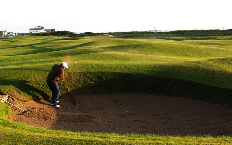Its fairway is shared with the sixteenth, so, the golfer can play Sea Headrig year after year without losing a ball.  It also likely to play the most over Old Man Par of any hole on the course.