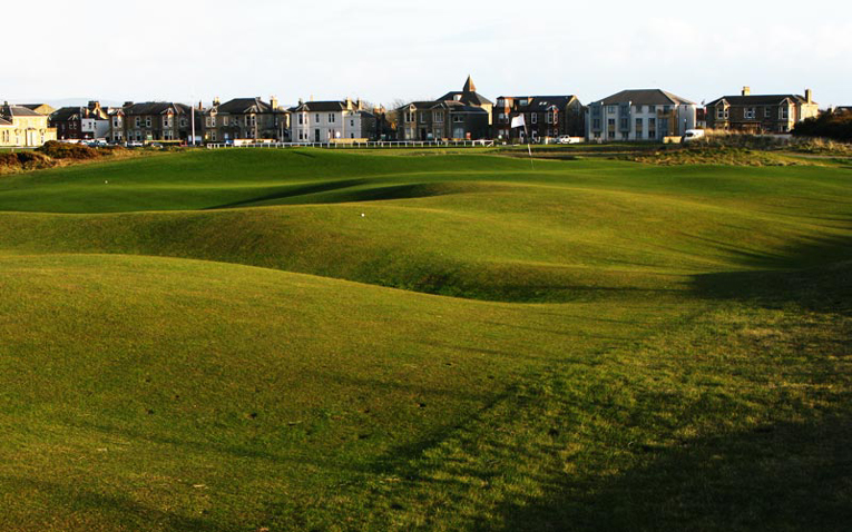 Sorry Alister MacKenzie, Augusta National and Cypress Point. The author picks Sea Headrig as his favorite thirteenth hole in world golf. The essence of golf has and always will be how the ball reacts along the ground. There is no better example than the thirteenth green complex at Prestwick.