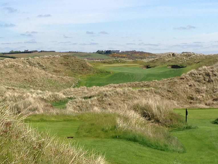With two penal bunkers guarding the none too big lay-up area, why not have a go at the green?