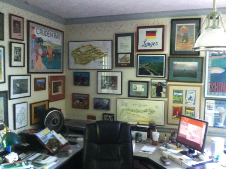 Bradley's home office.
