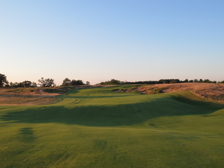 The sixty-five yard wide fairway is one of the widest on the course. Look at the beautiful land movement captured within the fairway!