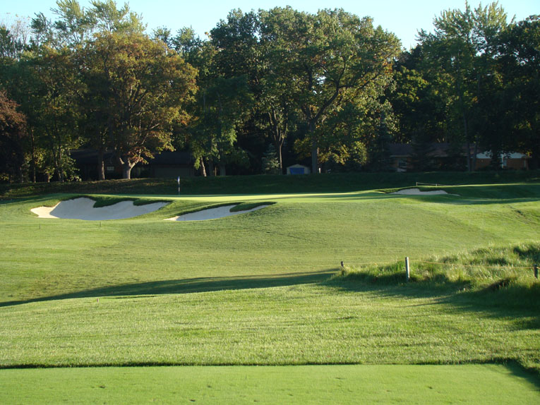 Classic features define classic courses and there are few more heart-warming sights for an architecture buff than this par three and its Redan characteristics.