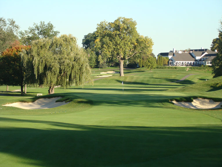 At 4,400 square feet, the eighth green represents the smallest target on the course.