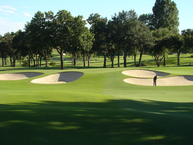While still being unforced in appearance, the angled green has three distinct sections, all requiring a deft touch to find. A mere 22 yards deep, the green represents the most shallow target on the course.