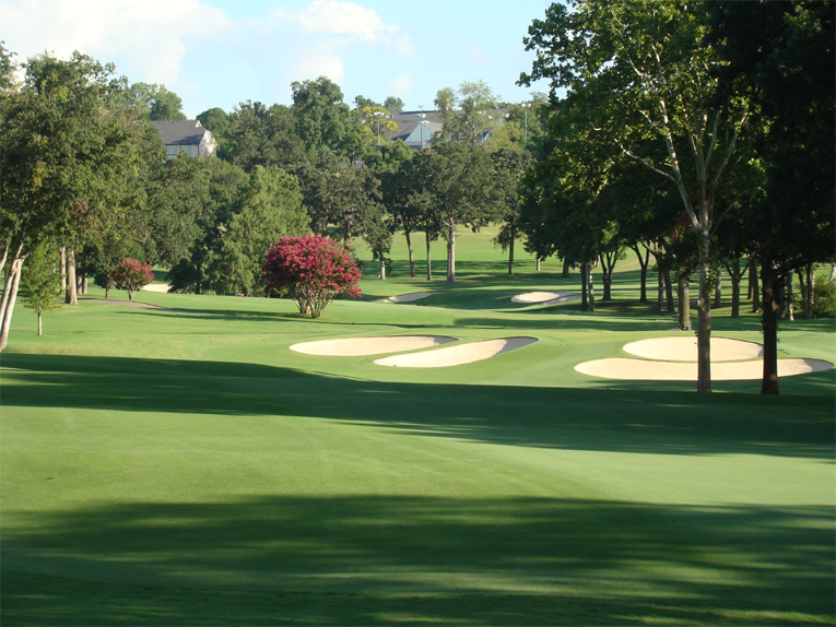 The first two hundred yards or so represent smooth sailing off the seventeenth tee but ...