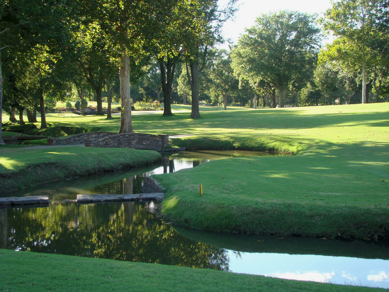 Like Augusta National, Southern Hills features creeks that lend great beauty and strategy to the golf.