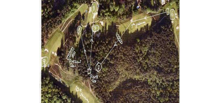 Figure 6 - Changes to the seventh and eighth holes