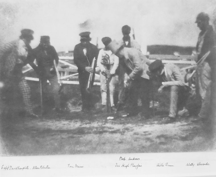 Taken in St. Andrews in 1845, this is the earliest known photograph of Old Tom Morris and Allan Robertson.