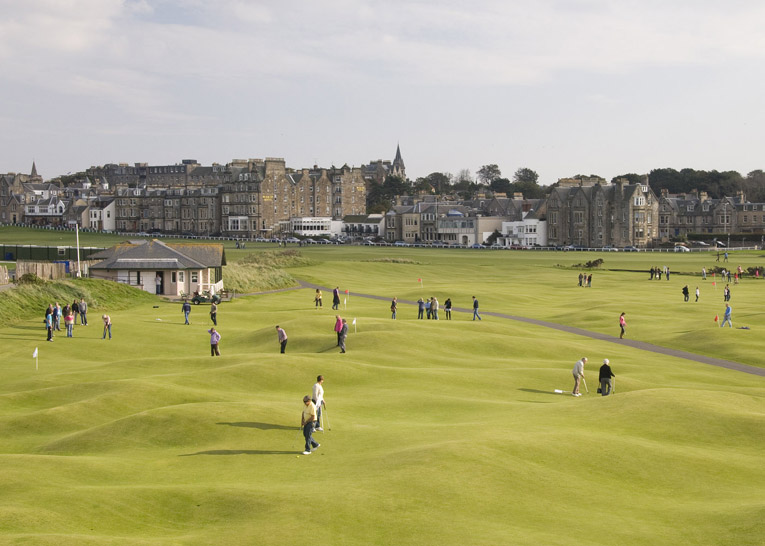 : People enjoying the Ladies Putting Course at St Andrews
