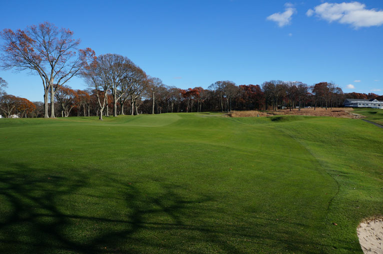 Tee balls at the fourteenth get shunted both to the right as seen above ...