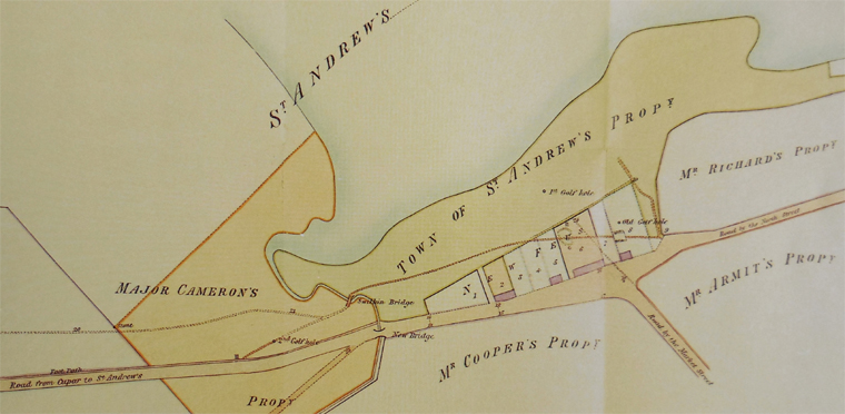 A. Martin depicted this diagram in the 1821 which is the very year that Morris was born in St. Andrews. It's safe to say that Old Tom Morris saw and was involved with many changes to The Old Course throughout his life!