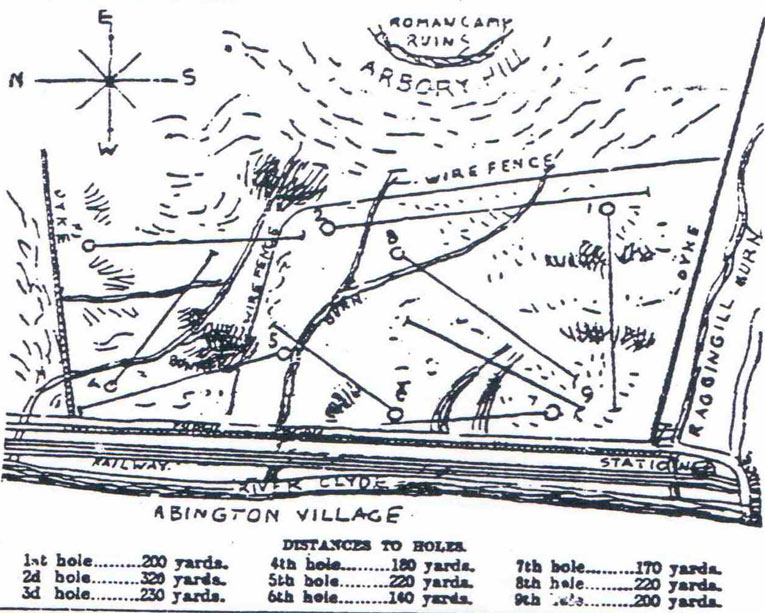 Original sketch of the course. 1892.