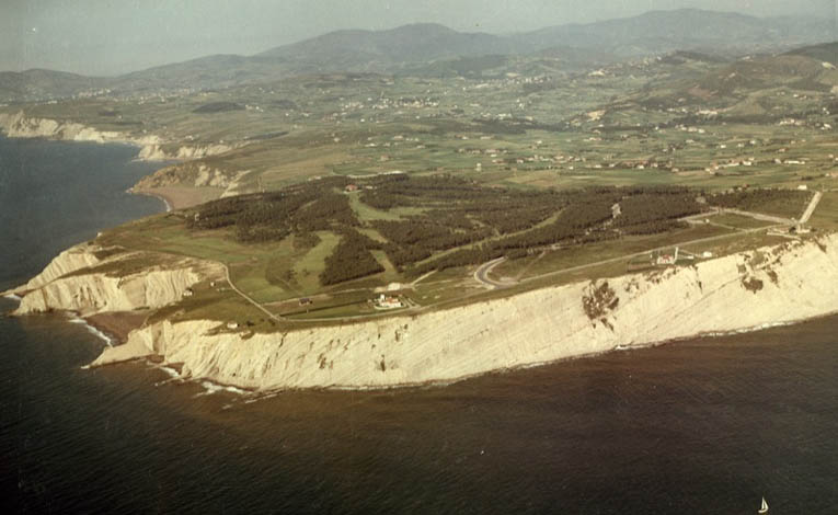 Aerial view of Neguri, chosen ground by Colt and Arana for a course that was eventually built in 1960.