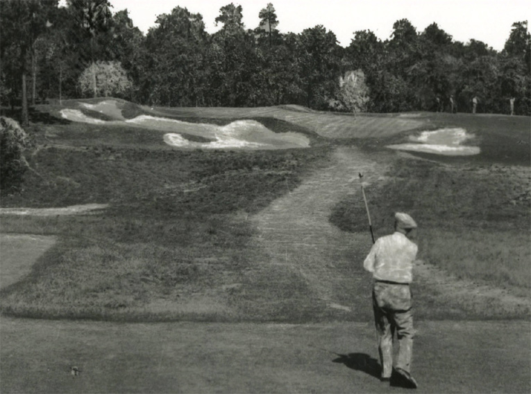 Ross playing the 9th hole of No. 2. Courtesy of UNC-Chapel Hill