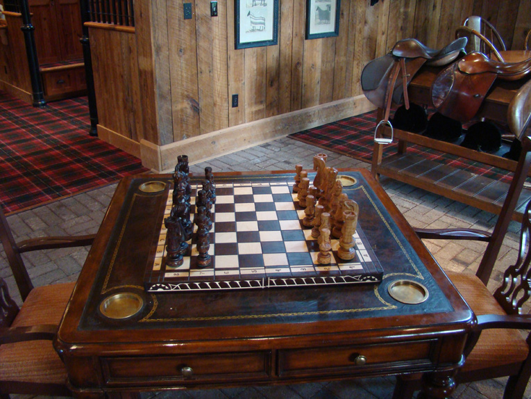 Think golf is old? Try the ancient game of chess which started in India some 800 years before golf was played along the North Sea. An inveterate chess fan, the author has always been impressed by this set.