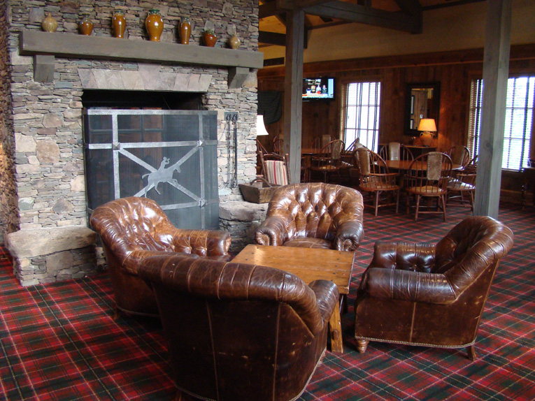 Seating areas are scattered about with these plump leather chairs acting as sirens to golfers with weary legs and tight backs.