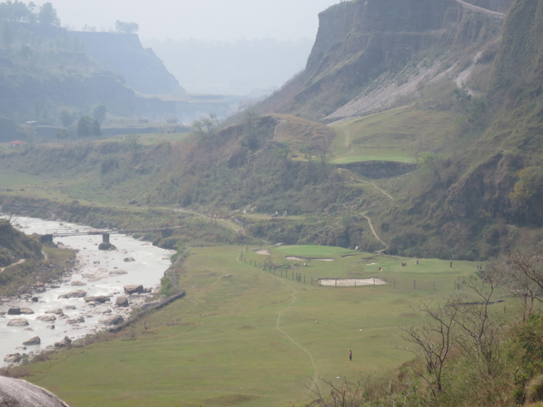 "Himalayan Golf Course takes the golfer from the rim of this canyon down to the rushing river and then back up.  A refreshing change from ""cart ball."""