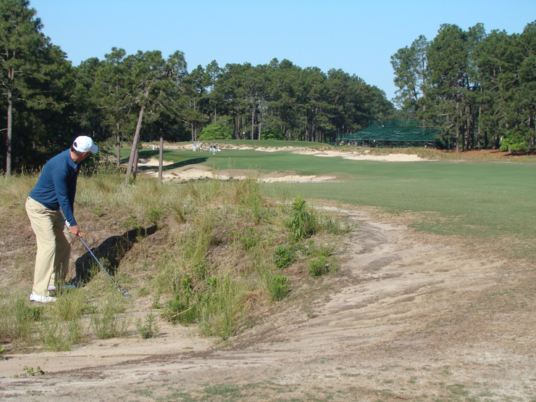 Sadly, this golfer is tangled up in Ross's depression and a pitch-out is his only option.