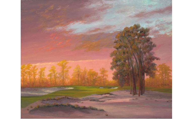 Artist Mike Miller captures the quiet solitude of Pinehurst.