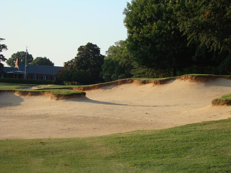 Some of Coore & Crenshaw's most interesting - and varied - bunkers are found at Old Town. Note the attractive hard edges.