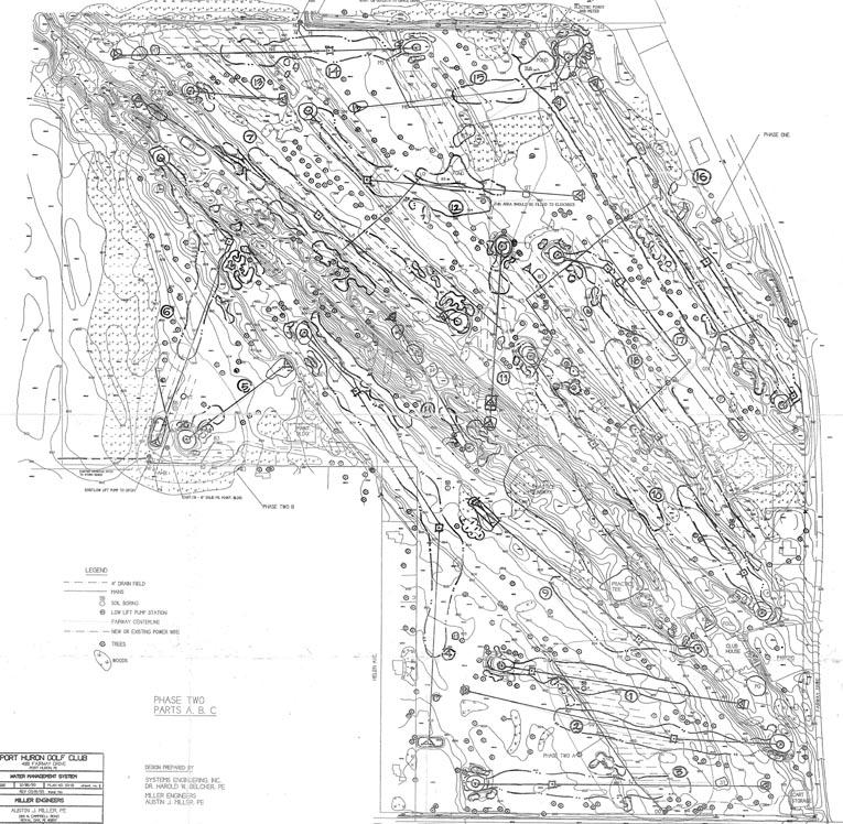 1995 topographical drawing w/David Pandel Savic 2002 MP sketch overlaid PHGC