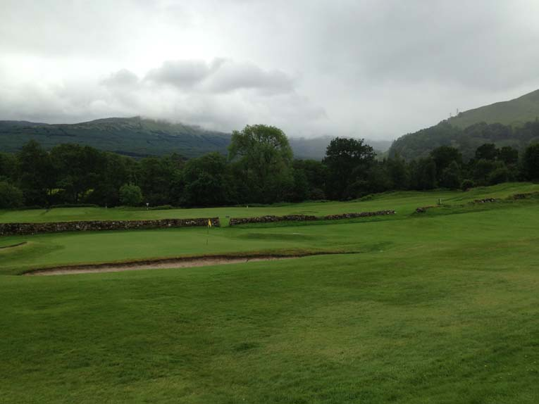 Looking back at the5th at Killin.