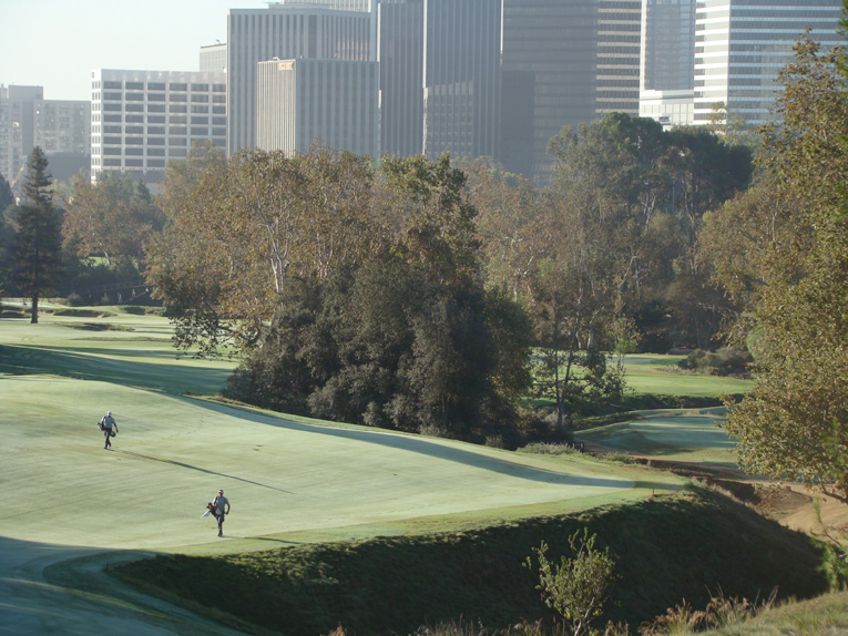 Looking back down the third fairway, the juxtaposition of man and nature is nowhere more acutely felt than Los Angeles Country Club.